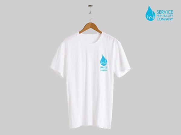 Print on short sleeves t-shirts (White)