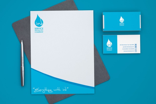 Branding stationary design by inkservice Kuwait