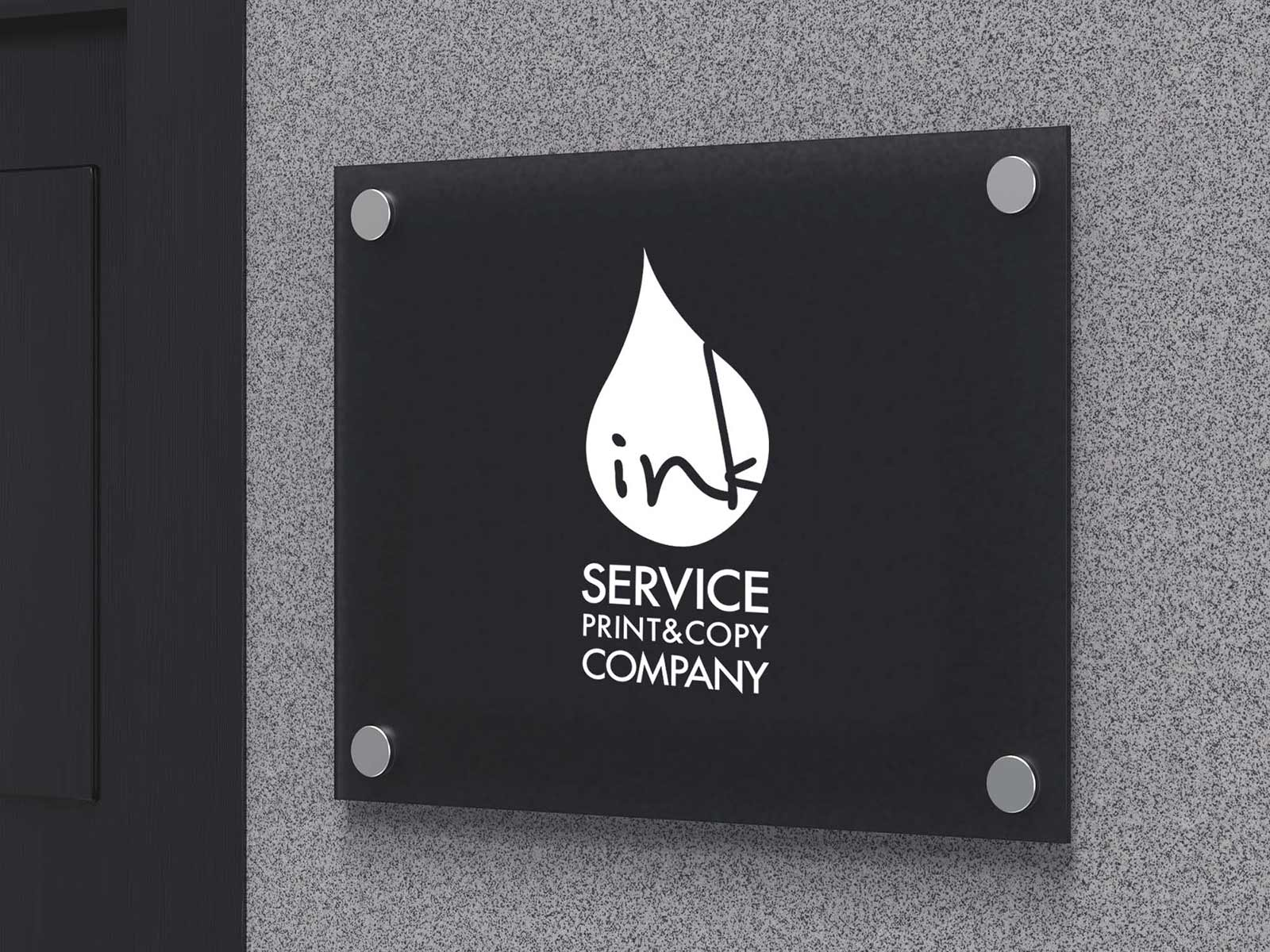 indoor signage made by acrylic hanged on wall in Kuwait