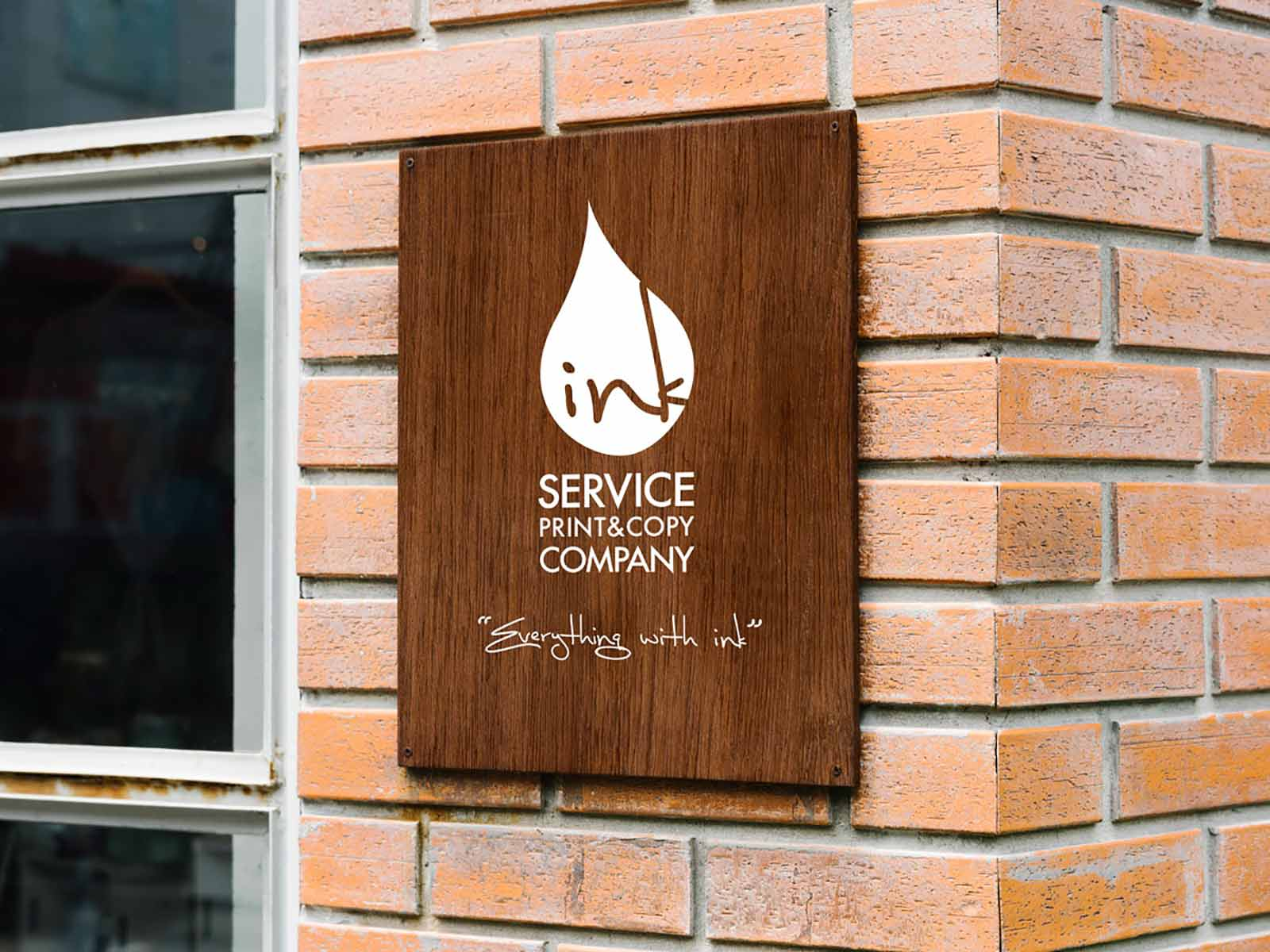 signgage in kuwait hanged on the wall made by inkservice print shop photocopy