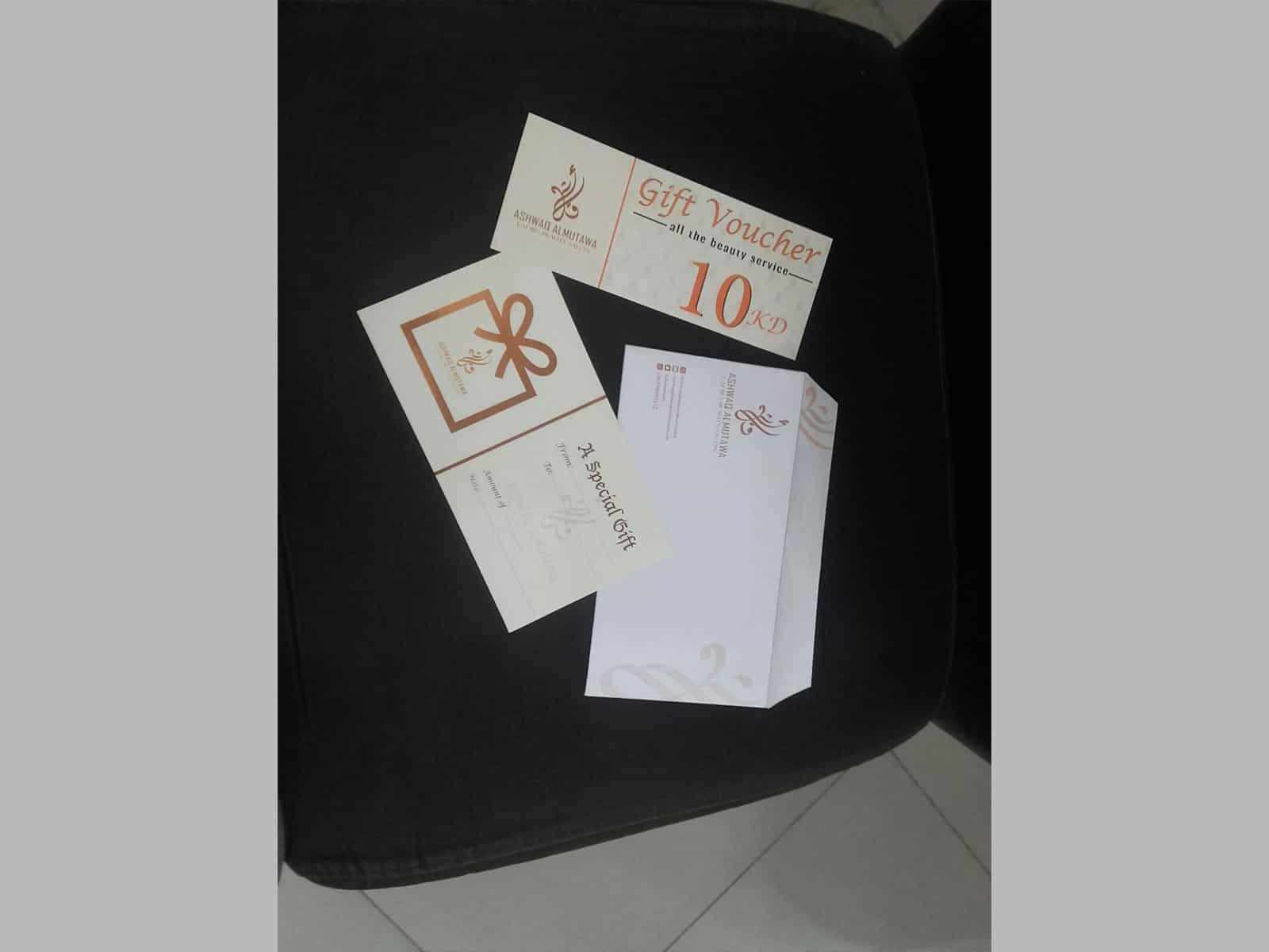 Gift voucher printed by Inkservice