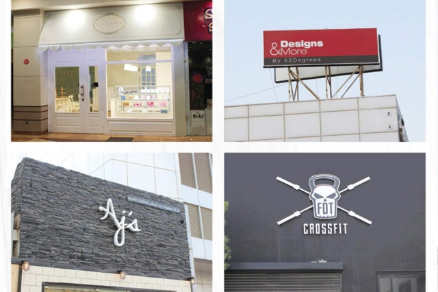 outdoor signage restaurant shop front kuwait