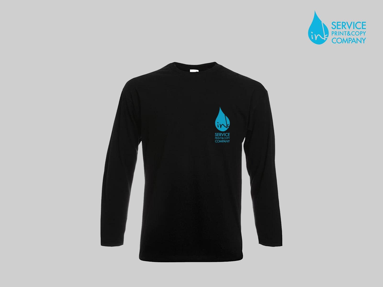 Print long sleeves t-shirts (Black)