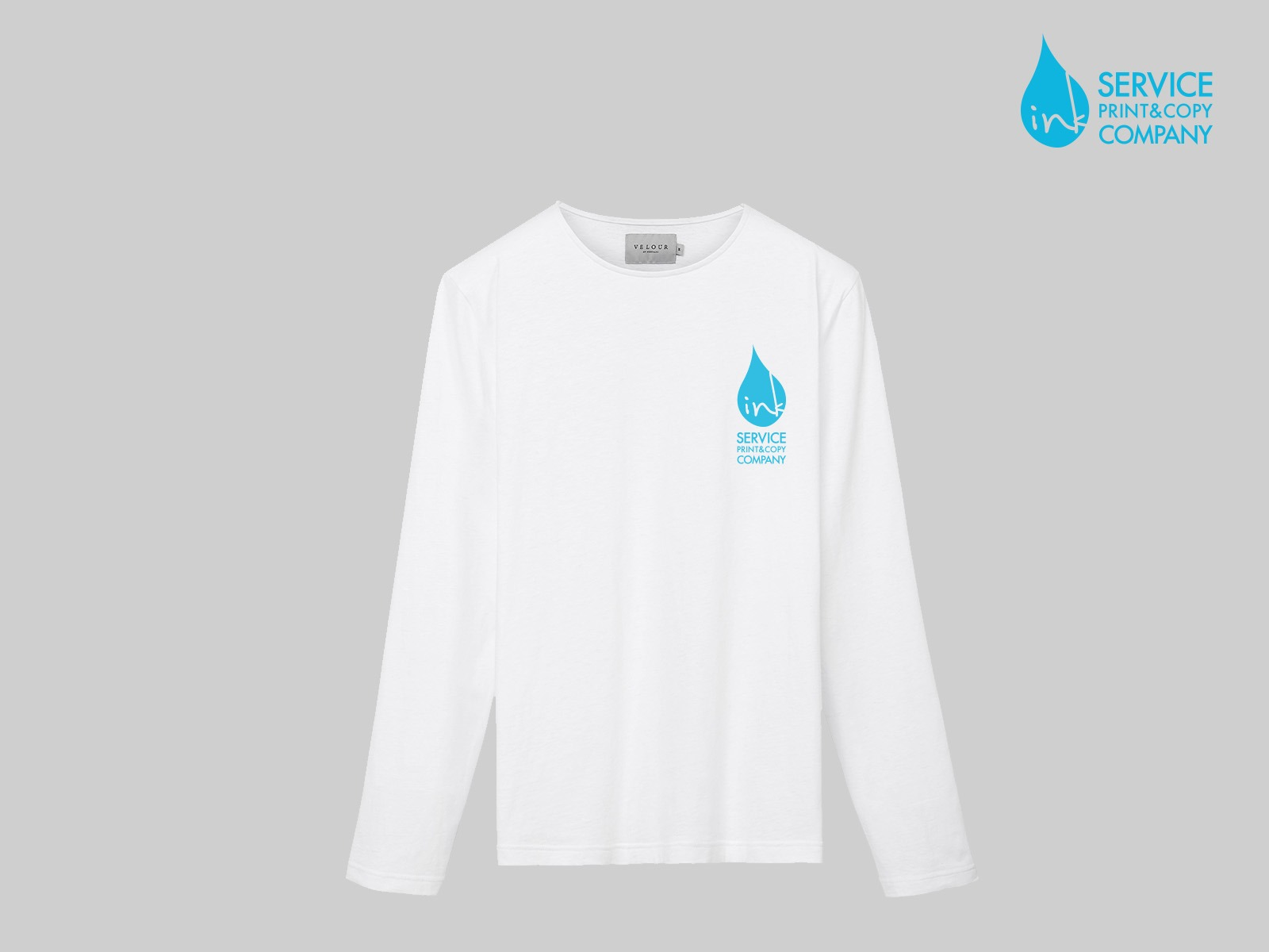 Print on long sleeve t-shirts (White)